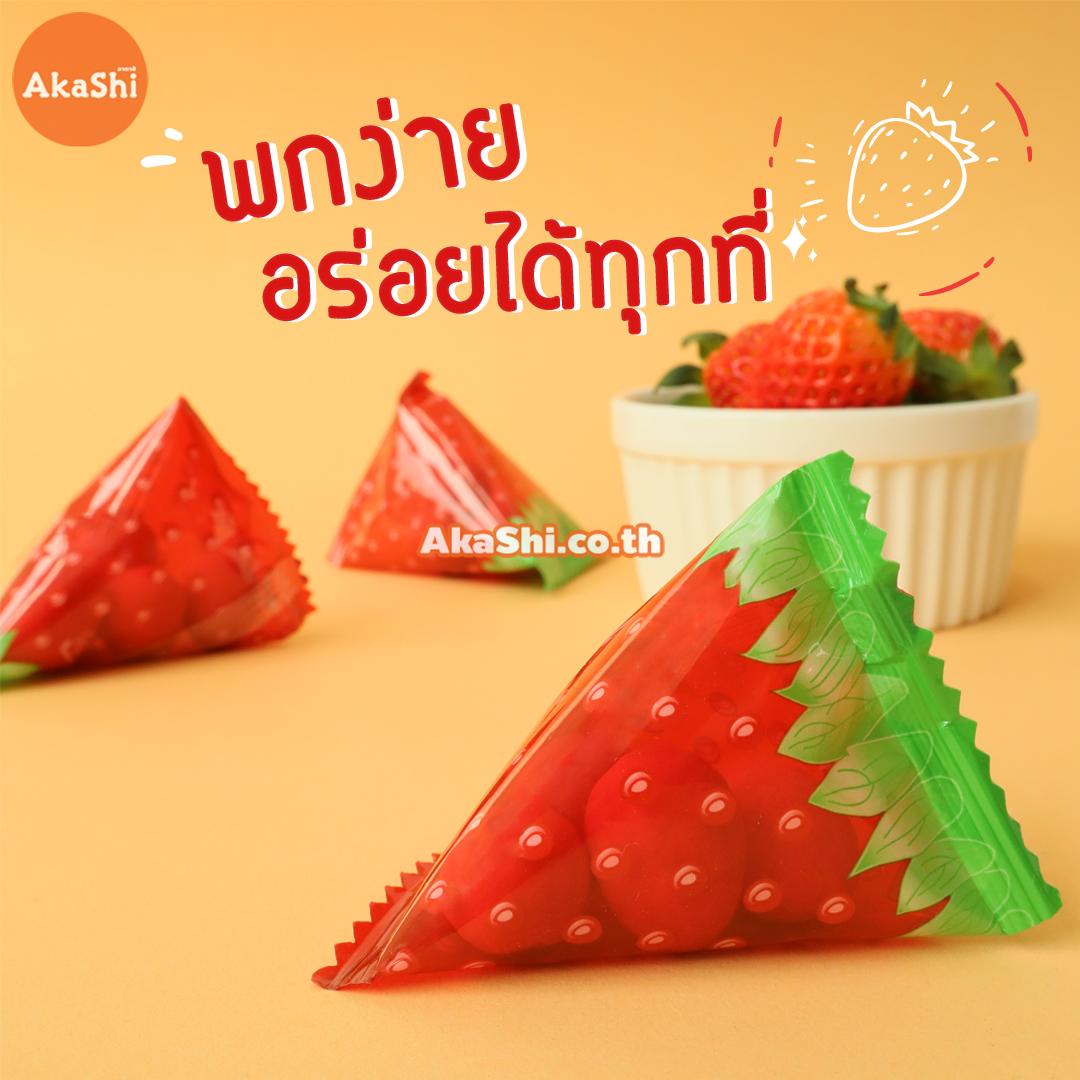 Sennarido Amaou Strawberry Almond 240g. - อัลมอนด์เคลือบรสสตรอว์เบอร์รี่ อะมะโอ ขนาด 240 กรัม