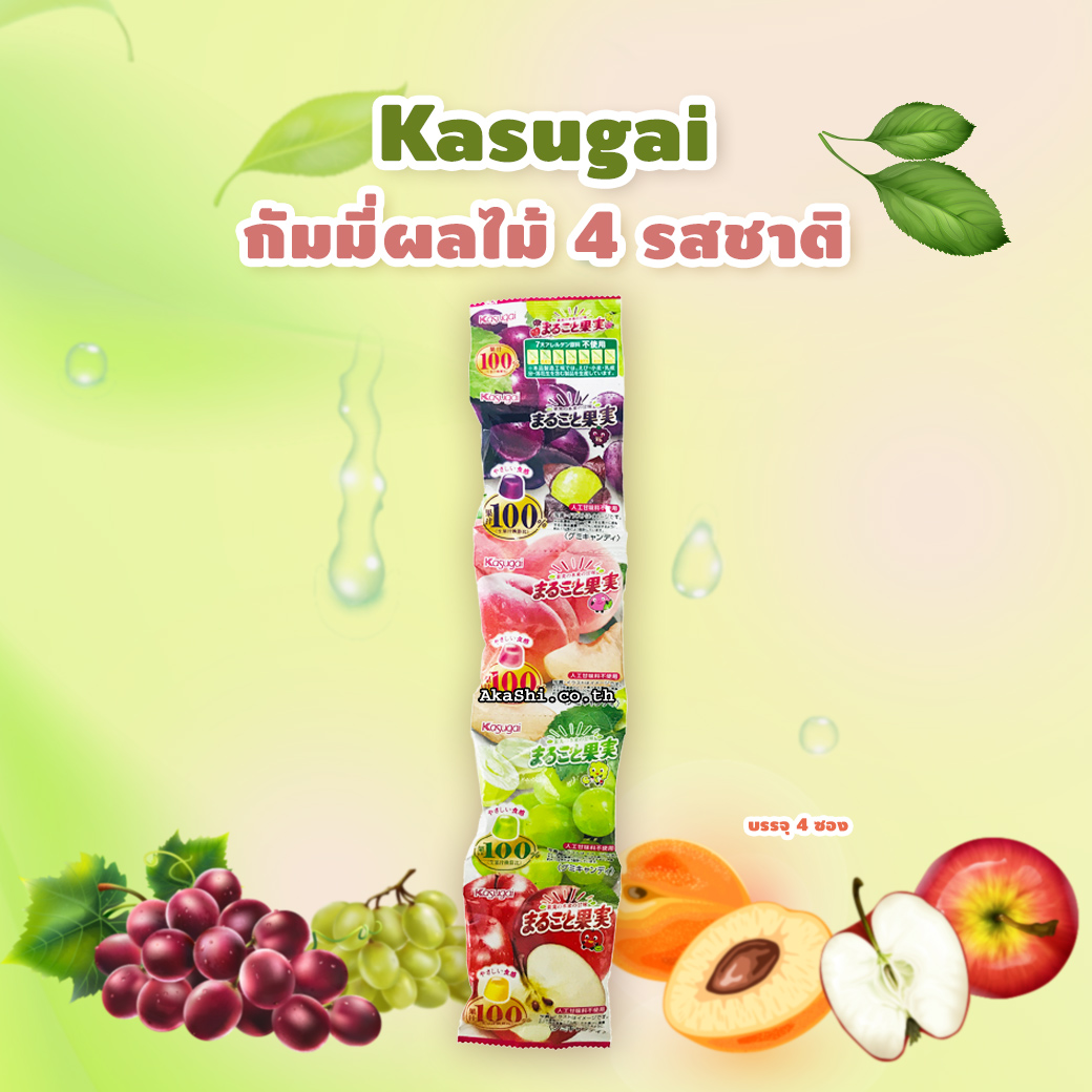 Kasugai Gummy 4 Flavors - กัมมี่ผลไม้ 4 รสชาติ
