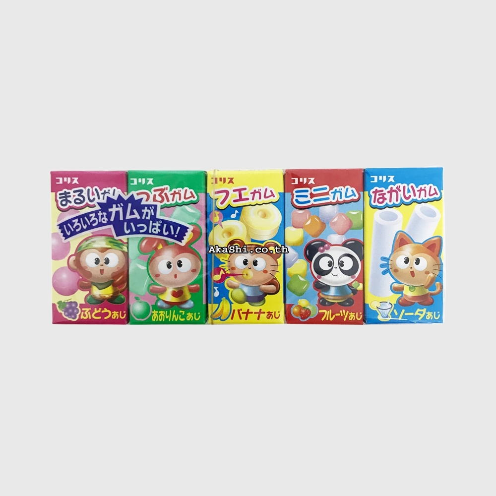 Coris Gum Gum 5 pack - หมากฝรั่งรวมรสผลไม้และรามูนะ