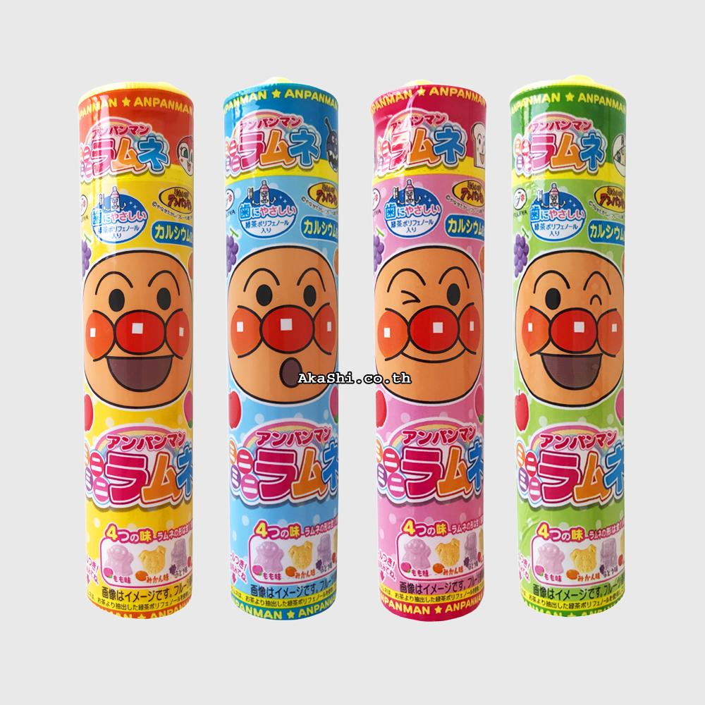 Fujiya Anpanman Mini Mini Ramune Candy - ฟูจิยะ อันปังแมน ลูกอมโซดารสผลไม้