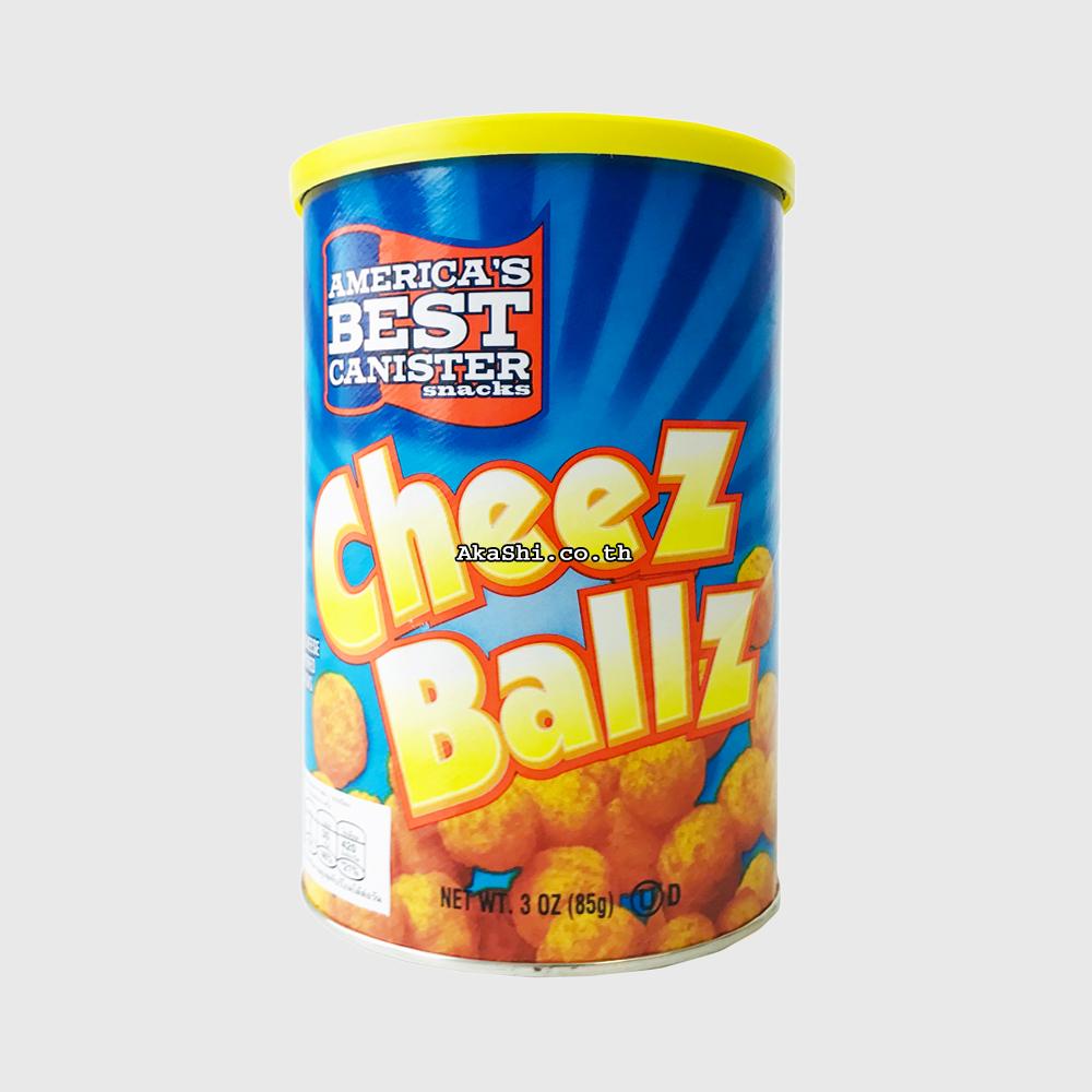 America's Best Canister Snacks Cheez Ballz - ขนมกรอบรสชีส