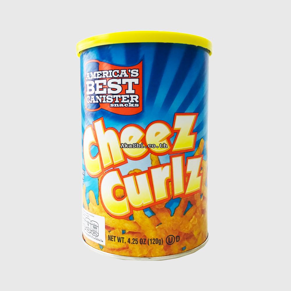 America's Best Canister Snacks Cheez Curlz - ขนมกรอบรสชีส